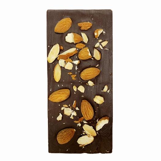 Натурален шоколад с печени бадеми